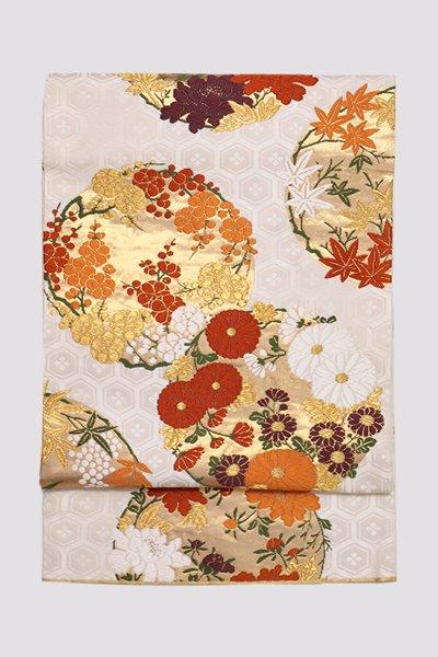銀座【帯3239】西陣 河合美術織物製 袋帯