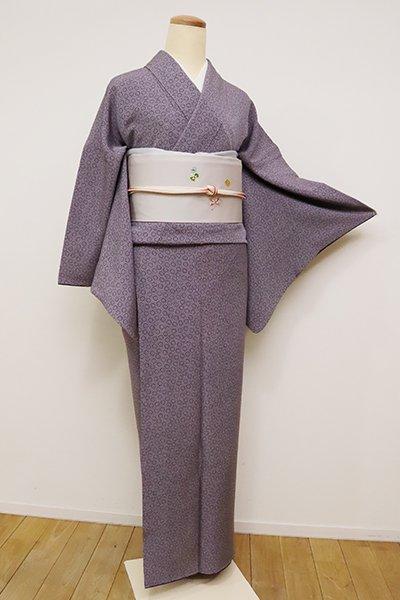銀座【C-1798】(S)江戸小紋 深紫色 菊文