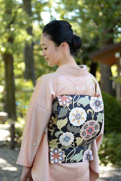 銀座【帯3243】西陣 河合康幸製 袋帯