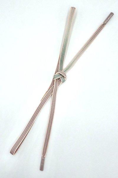 銀座【G-1540】京都 衿秀製 帯締め 畝打組 潤色×蕎麦切色 二色暈かし(新品)