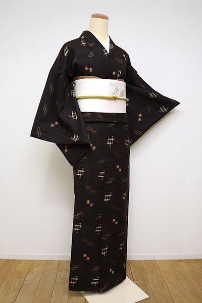 銀座【A-2994】(S・細め)久米島紬 赤墨色 絣文