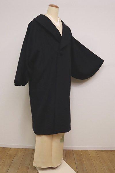 銀座【E-1183】アンゴラ混 和装コート 黒色 無地(N)