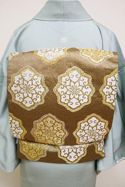 銀座【L-4909】袋帯 金色 有職華紋