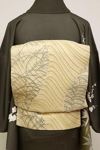 銀座【L-4913】袋帯 砥粉色 流線文