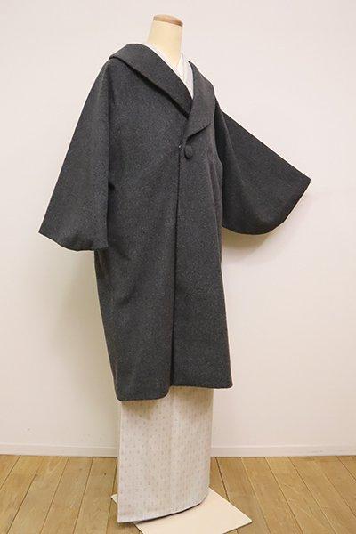 銀座【E-1190】カシミア混 和装コート グレー 無地(N)