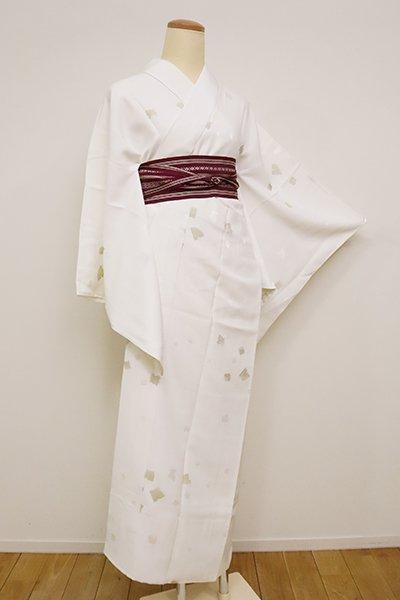 銀座【F-426】礼装用 長襦袢 白色 切箔散らし