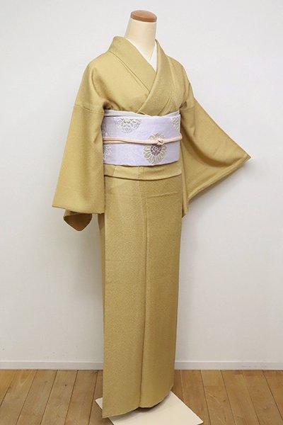 銀座【C-1801】繍一ッ紋 江戸小紋 玉蜀黍色 鮫(落款入)