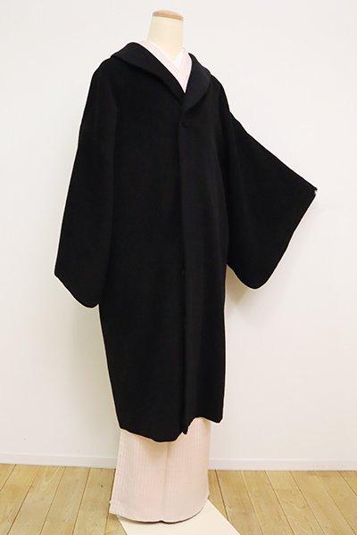 銀座【E-1197】アンゴラ混 和装コート 黒色 無地