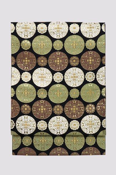 銀座【帯3252】西陣 河合美術織物製 袋帯