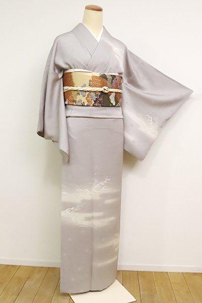 銀座【B-2479】(L)染一ッ紋 訪問着 潤色 霞や波の図