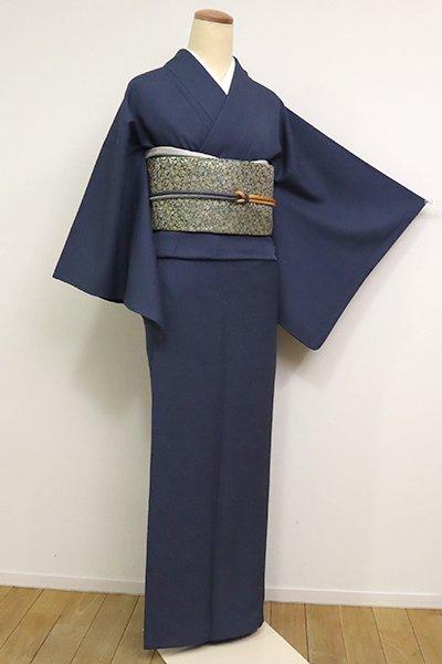 銀座【C-1803】(広め)染一ッ紋 江戸小紋 留紺色 鮫