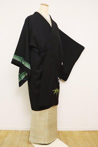 銀座【E-1205】絵羽 道中着 黒色 竹の図