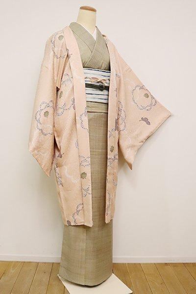 銀座【E-1208】羽織 洗柿色 菊の図(反端付)