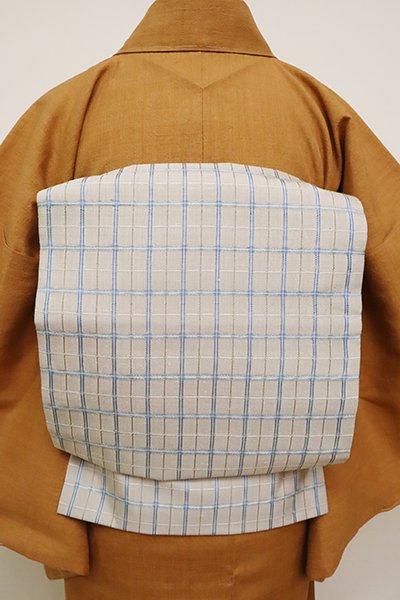 銀座【K-6583】織名古屋帯 素色 吉野間道