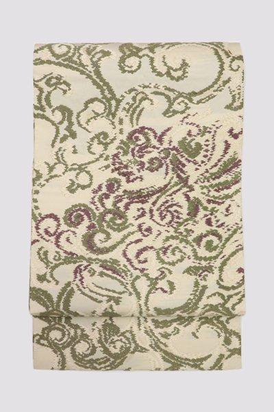 銀座【帯3257】西陣 河合美術織物製 唐織 袋帯