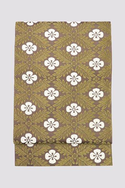 銀座【帯3261】西陣 河合美術織物製 唐織 袋帯