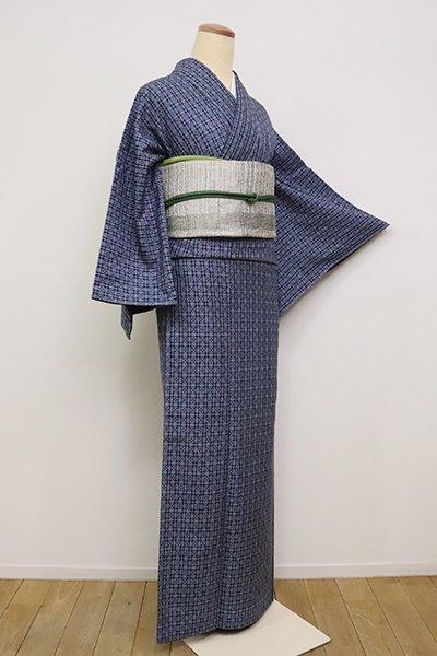 あおき【A-3031】花織 藍濃淡 幾何文