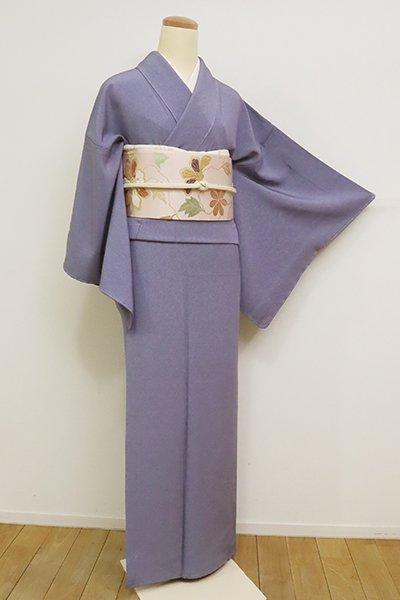 銀座【C-1809】繍一ッ紋 江戸小紋 紅碧色 鮫