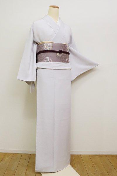銀座【C-1813】江戸小紋 白菫色 万筋(反端付)(N)