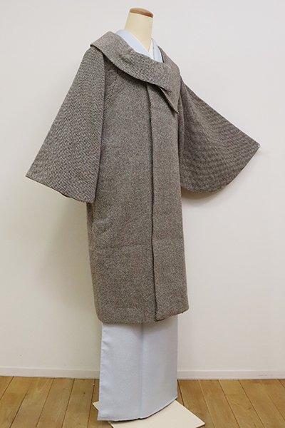 銀座【E-1217】和装コート 焦茶色×白色(N)