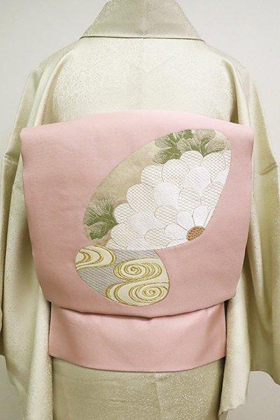 銀座【K-6612】織名古屋帯 貝に菊花や流水の図