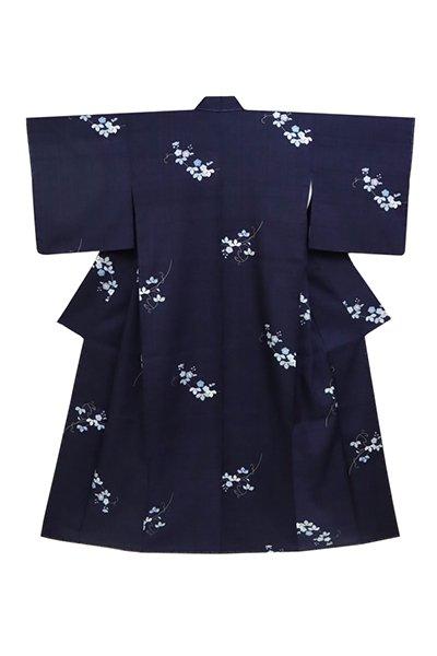 銀座【着物2703】京都しょうざん製 生紬地小紋 (反端付)