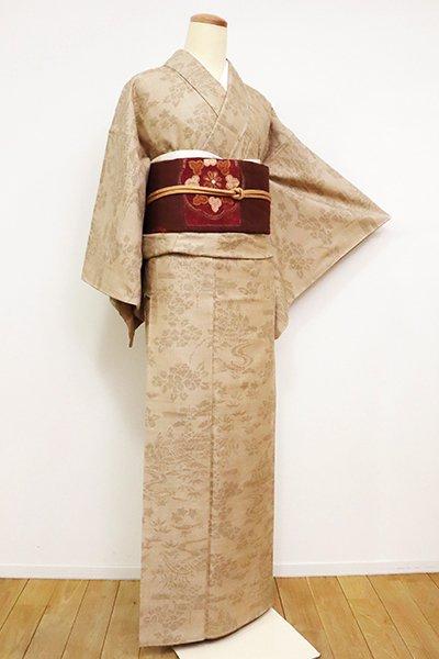 銀座【A-3041】結城紬 はたおり娘 香色 茶屋辻文(証紙付)
