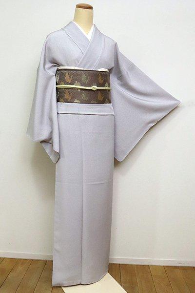 銀座【C-1821】江戸小紋 薄鈍色 万筋(反端付)(N)
