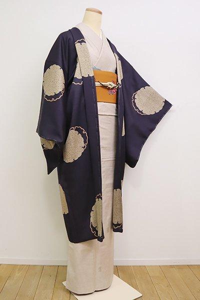 銀座【E-1222】羽織 濃鼠色 雪輪文(反端付)(N)