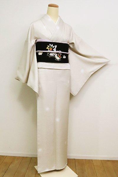 銀座【D-2457】小紋 練色 蛍暈かし(反端付)(N)