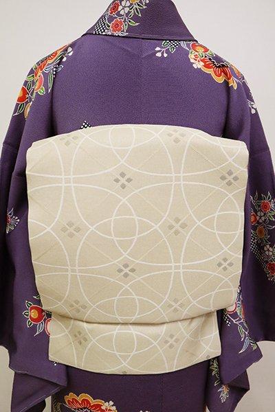 銀座【K-6654】織名古屋帯 練色 抽象文