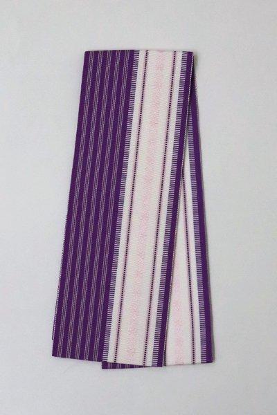 【G-1560】博多織 伊達締め 桑の実色×胡粉色(新品・証紙付)