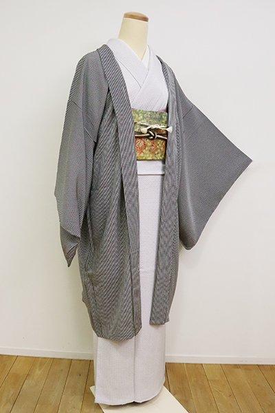 あおき【E-1228】羽織 黒色 竹縞