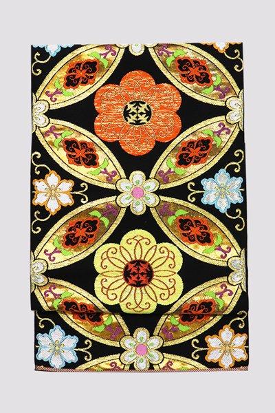 銀座【帯3298】たつむら製 本袋帯「陽春七宝」