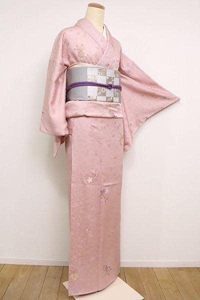 【D-2481】刺繍 小紋 虹色 桜の花の図