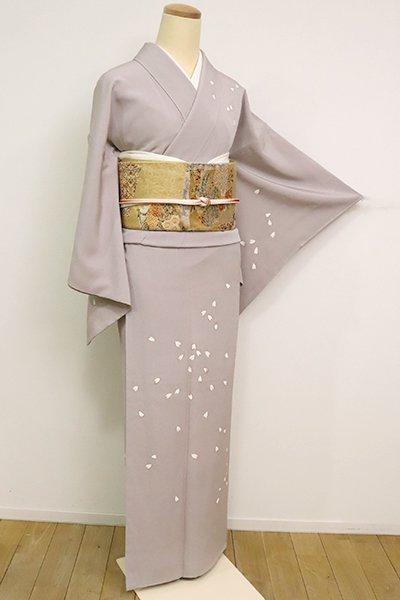 銀座【B-2548】(S)繍一ッ紋 訪問着 枯野色 桜の花弁の図
