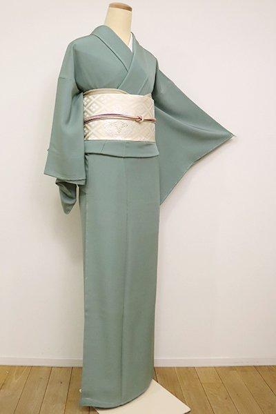 【C-1853】(広め)繍一ッ紋 色無地 水浅葱色