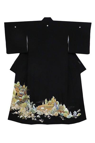 銀座【着物2738】千總製 染五ッ紋 黒留袖 (落款入)