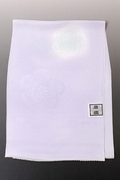 銀座【G-1572】京都衿秀 帯揚げ 白藤色 花文(N)