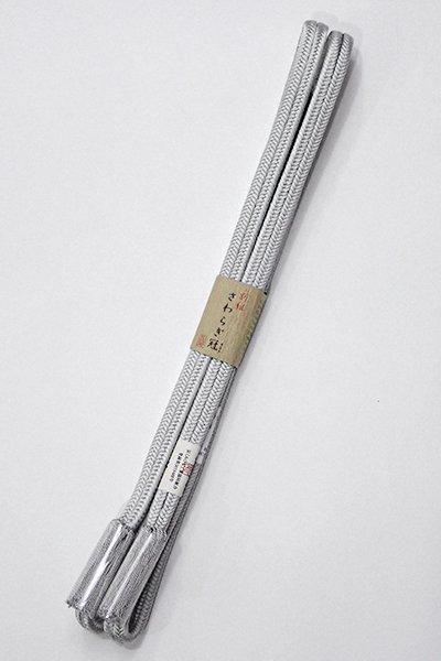 銀座【G-1448】京都 衿秀製 帯締め 冠組 銀鼠色(新品)