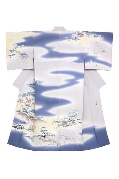 銀座【着物2740】清染居製 訪問着 春景色の図 (落款入)