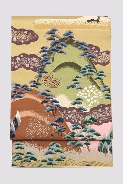 銀座【帯3320】西陣 白綾苑大庭製 袋帯
