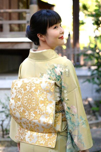 銀座【帯3317】西陣 川島織物製 本袋帯