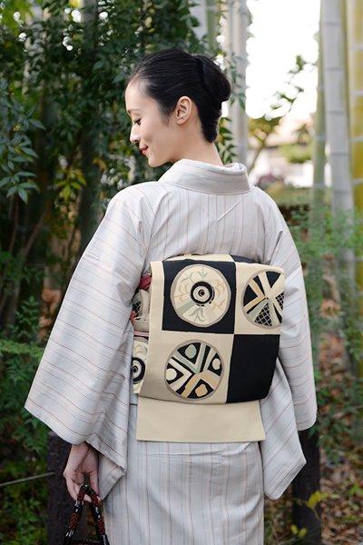 銀座【帯3313】西陣 今河織物製「木屋太」袋帯 (反端・西陣証紙付)