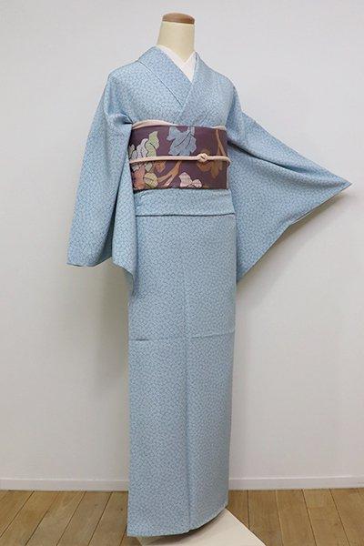 銀座【C-1517-5】江戸小紋 秘色色 梅鉢(反端付)(N)