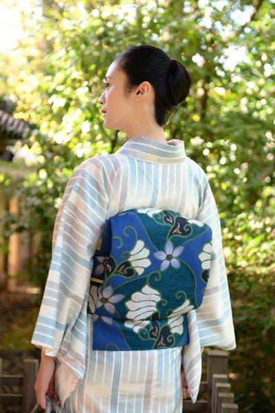 銀座【帯3322】洛風林製 織名古屋帯