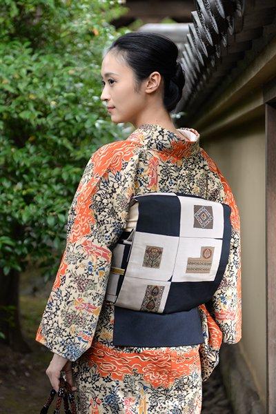 銀座【帯3330】西陣 今河織物製「木屋太」袋帯 (西陣証紙付)