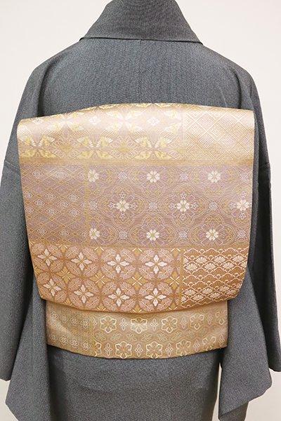 銀座【L-5059】西陣 陰山織物製 箔屋清兵衛 袋帯 変わり段に有職文など(証紙付・落款入)(N)