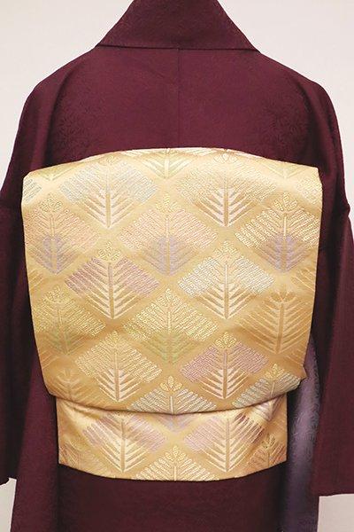 銀座【K-6729】織名古屋帯 萱草色 若松の菱文