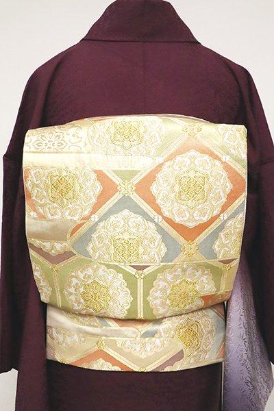 あおき【L-5065】袋帯 金色 霞に華文